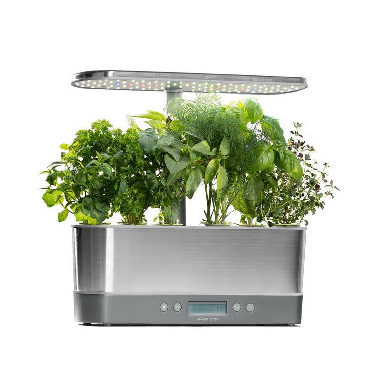 Aerogarden Harvest Elite Slim Stainless Home Garden System 400 x 300