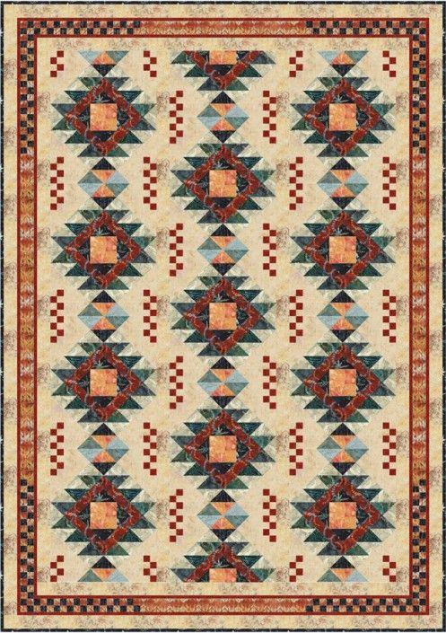 25+ best ideas about Southwest quilts on Pinterest Patchwork patterns, Quilt patterns and ...