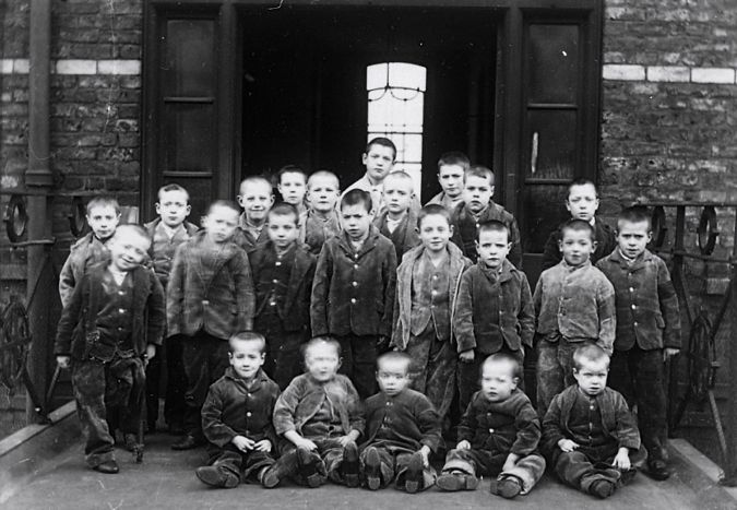 Crumpsall Workhouse for the Poor. Manchester, England. c.1895.