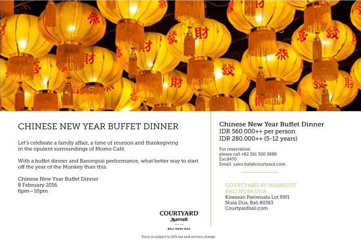 #marriott #courtyardbali #courtyardnusadua #dinner #lunarnewyear #chinese