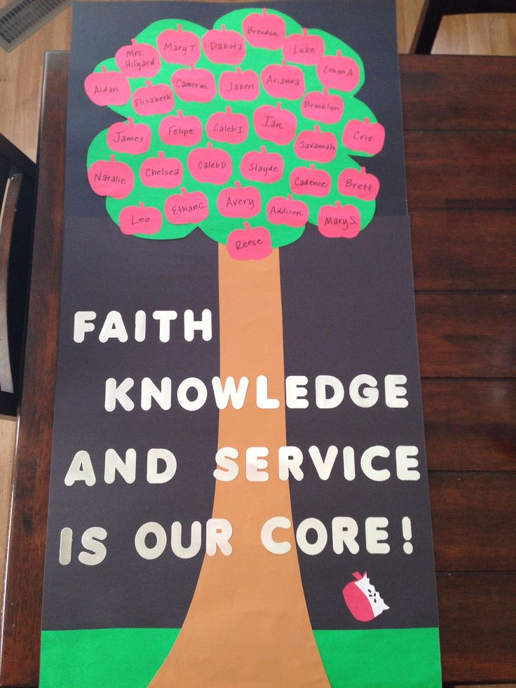 Natalie's class poster for Catholic Schools Week 2014