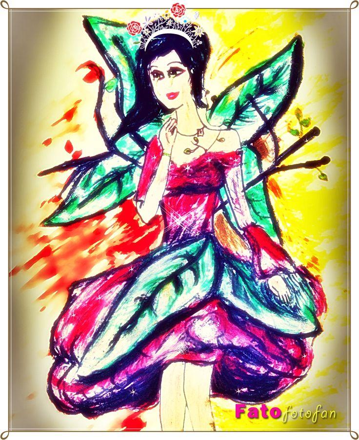 tablo2 satışta, yağlı boya ile yapılmıştır. Orman perisi
