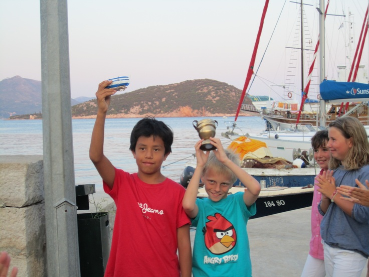 Zack and Rafiel won the dingy race croatia 2012 August
