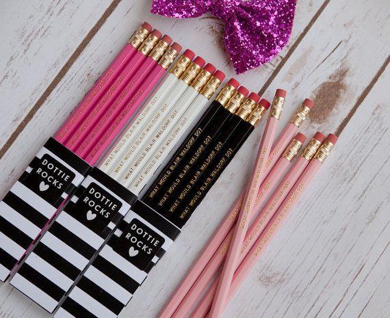 VENTE  ce qui serait Blair Waldorf  Lot de 6 crayons | Etsy