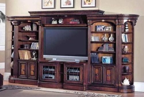 6 Pc Library Wall Entertainment Center