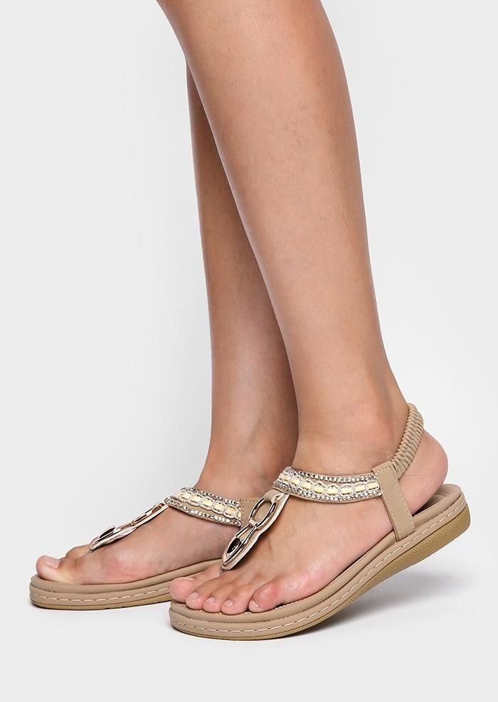 7e5ad0f6cfb  AdoreWe  FairySeason -  FairySeason Solid Imitated Crystal Flat Sandals -  AdoreWe.com