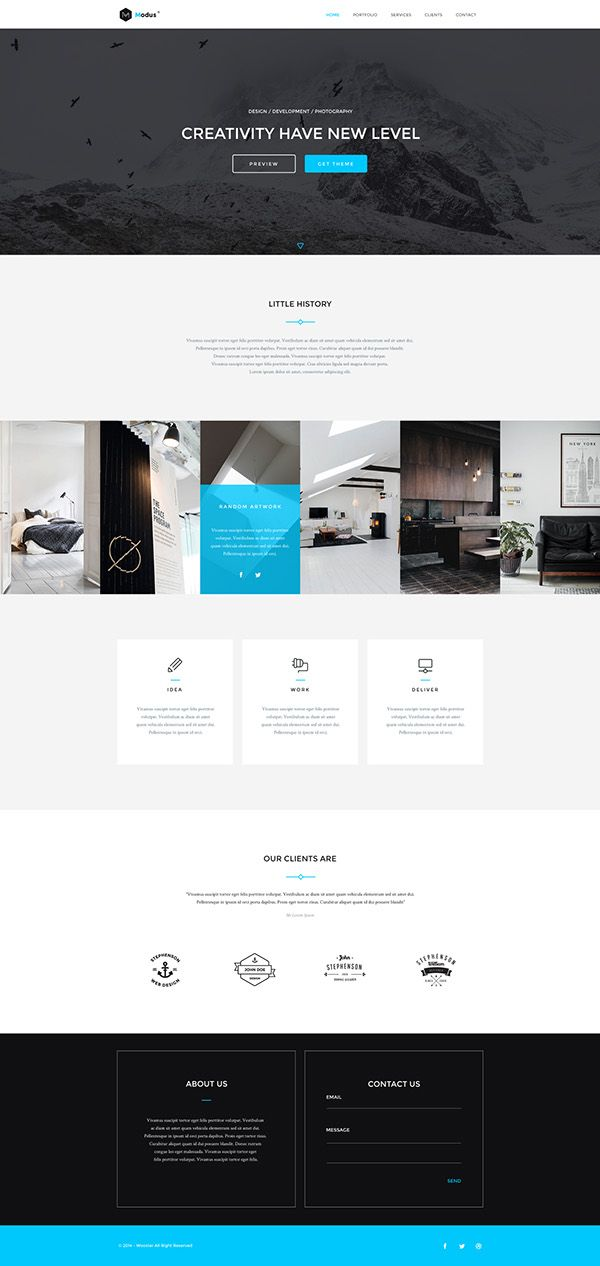Freebie - Modus,Portfolio PSD Template on Behance