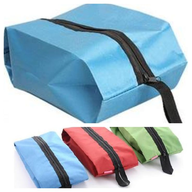 Large shoe or general purpose, heavy duty nylon travel bag with zip. Packs flat when not in use & expands to fit larger items (37.5cm x 19.5cm)  @ AUD$9.95 + postage or local pick up available.