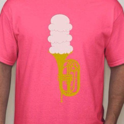 """Mello""""cones"""" pink mellophone T-shirt"""