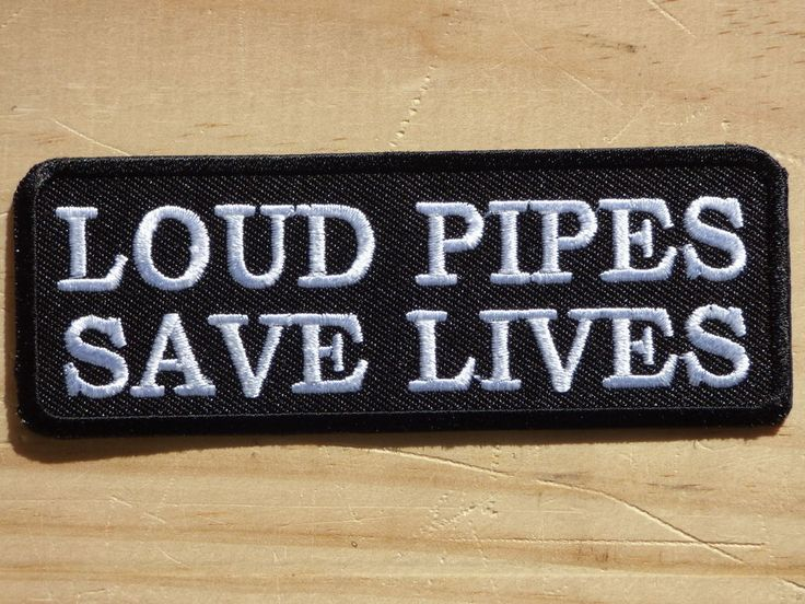 ecusson patch thermocollant aufnaher toppa loud pipes saves lives biker trike 2