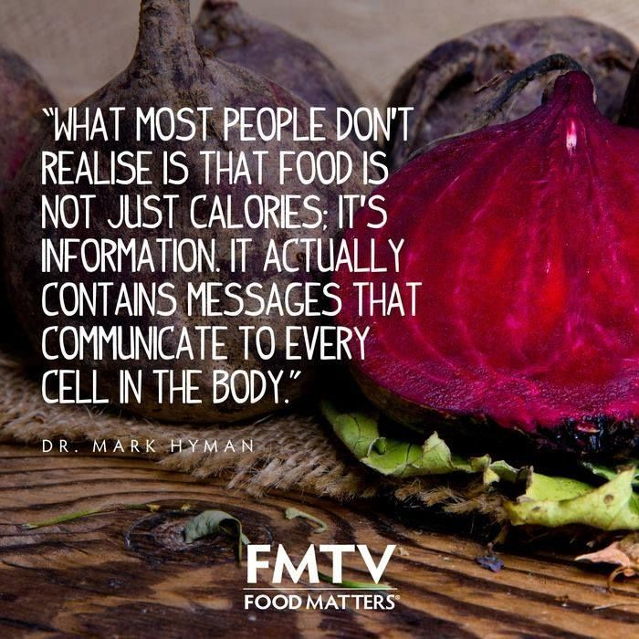 Food is not just calories, it's information | Food for thought via Food Matters #food #calories #health