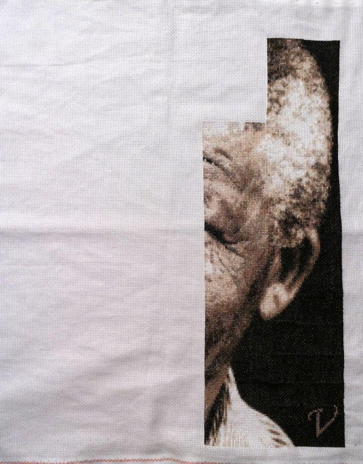 15- El trabajo sigue... #Madiba #Nelson Mandela #PcStitch
