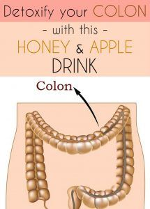 How to detoxify your colon with this honey and apple drink.