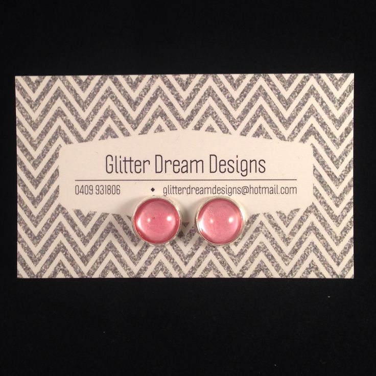 Order Code A2 Pink Cabochon Earrings