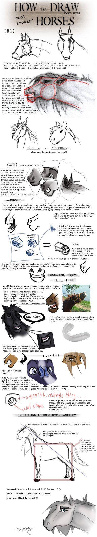Horse tutorial by ~kungpowkitten on deviantART