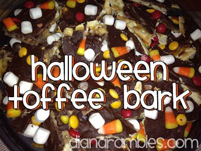 Halloween toffee bark from Diana Rambles.