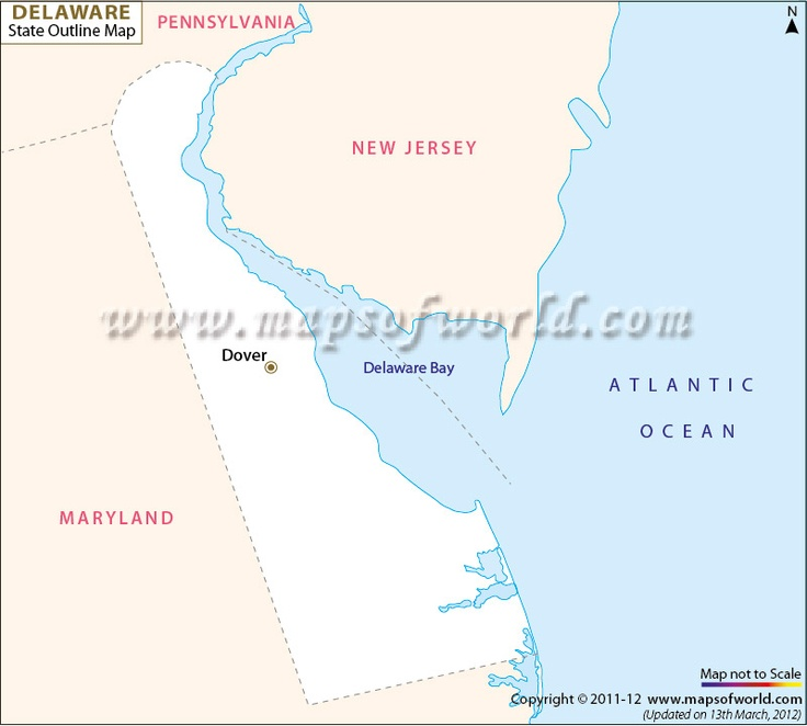 Dover is the capitol of Delaware.  Delaware is located on the Atlantic Ocean.
