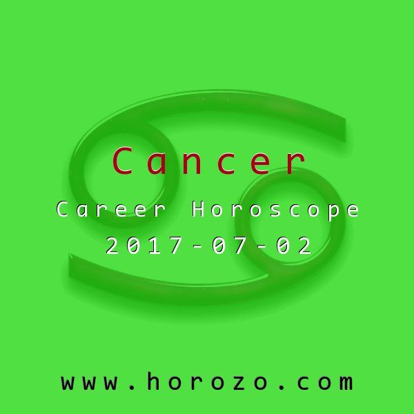 Cancer Career horoscope for 2017-07-02: Prepare for an intense and productive brainstorming session today. For once, everyone will be on the same page. This may be just the breakthrough you've been waiting for..cancer
