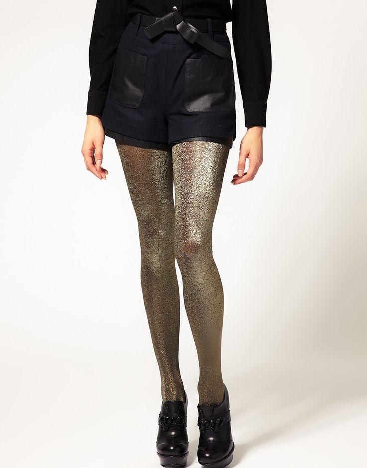 holiday metallic tights!