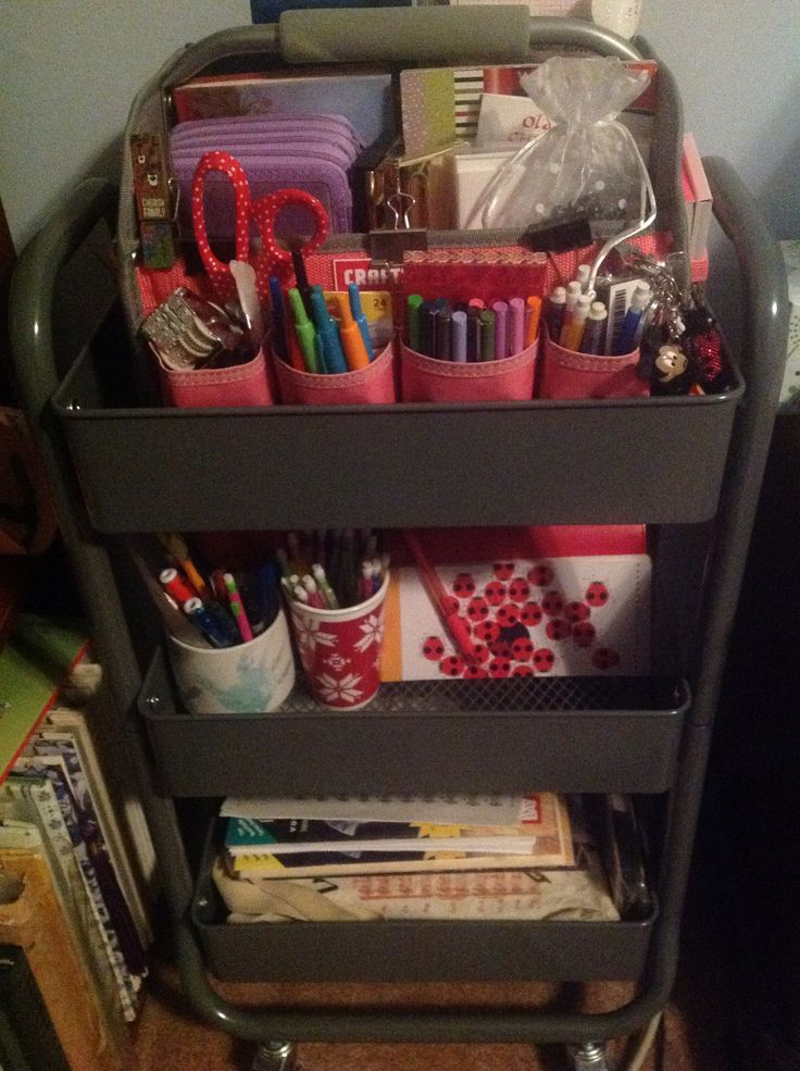 Bringing order to chaos- my planner supplies are nice and organized in my craft cart from target!