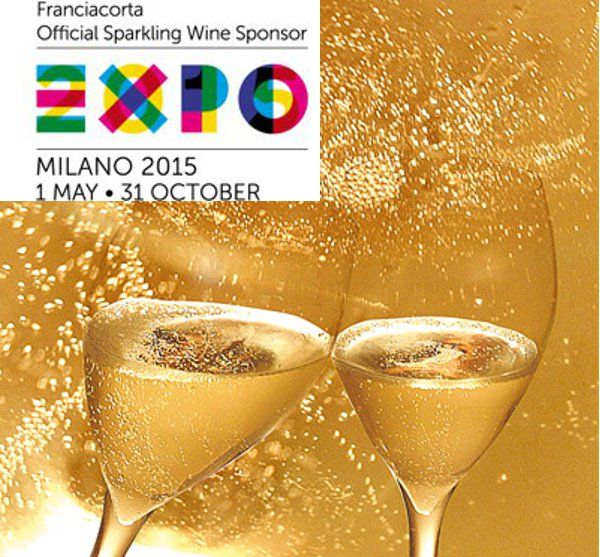 Franciacorta vino ufficiale dell'expo, partnership per far conoscere ai visitatori di Expo 2015. Il Franciacorta è Official Sparkling Wine Expo universale
