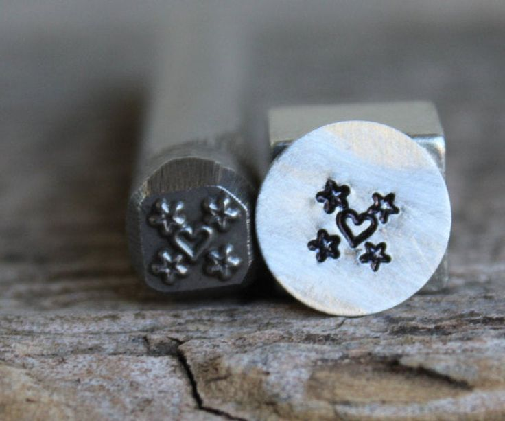 8mm Heartbeat Metal Punch Design Jewelry Stamp