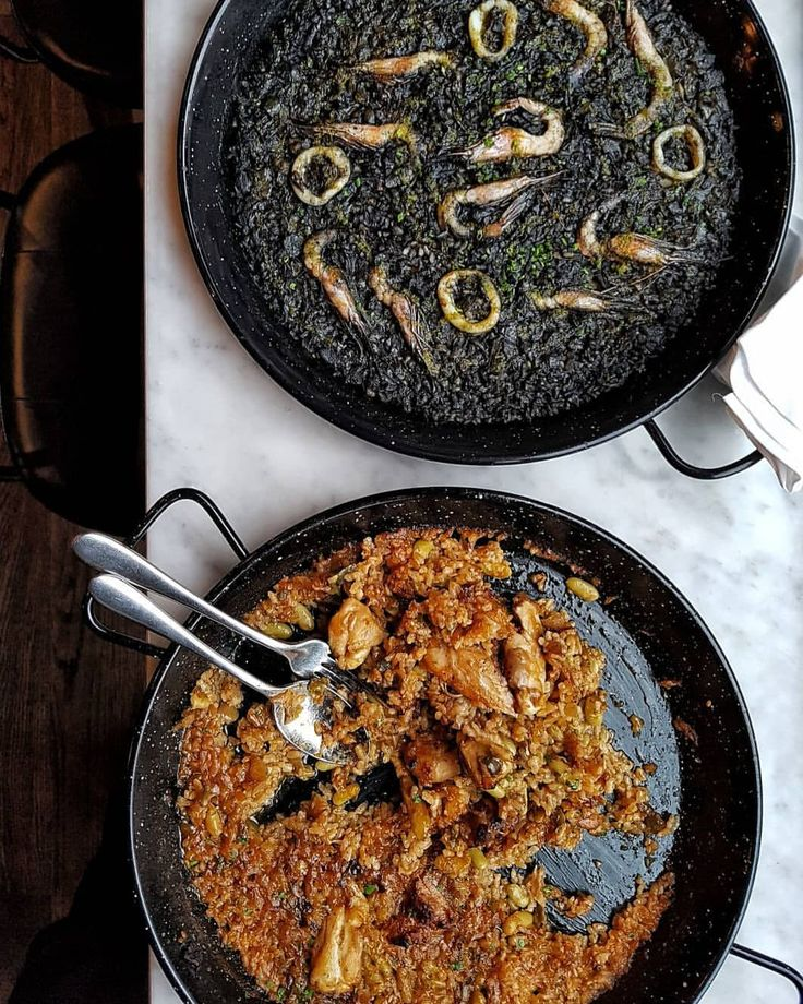 """1,471 Likes, 13 Comments - @LONDON (@london) on Instagram: """"@clerkenwellboyec1 says... SQUID INK & PRAWN PAELLA! by chef @jose_pizarro 🖤 🙌🔥🦐☻🌿🍋🍷🍃 Available…"""""""