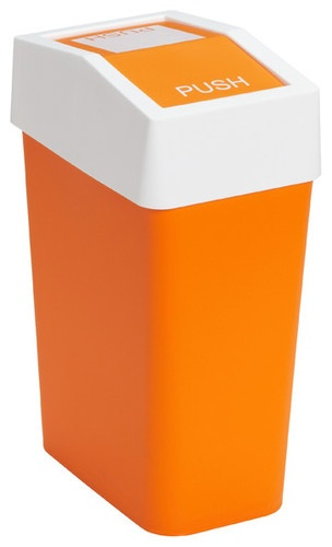 Brite Swing Lid Can, Orange modern waste baskets