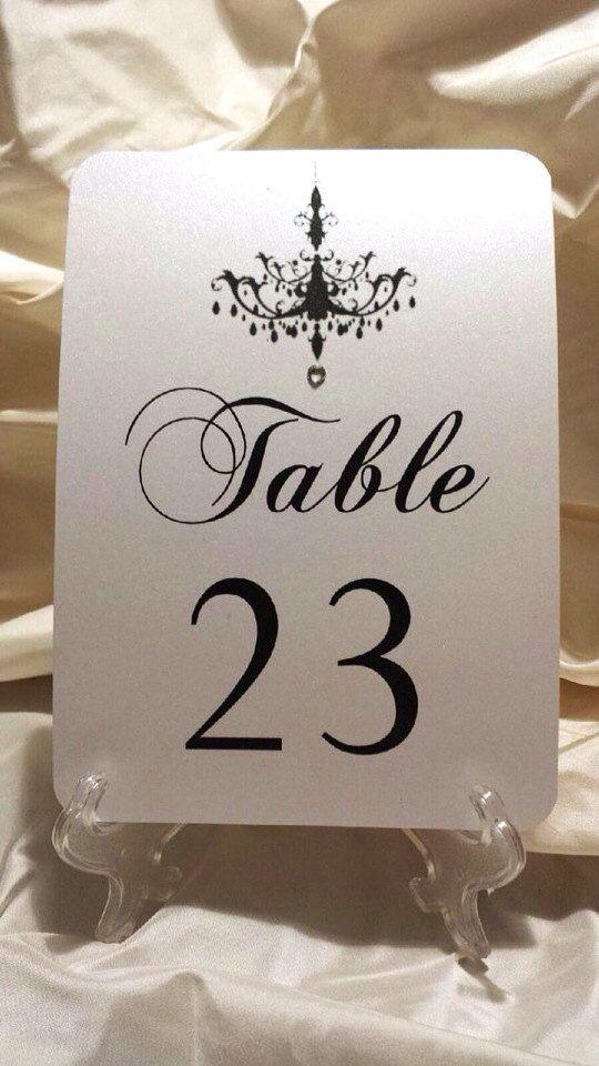 Rhinestone Wedding table numbers with Swarovski Crystal