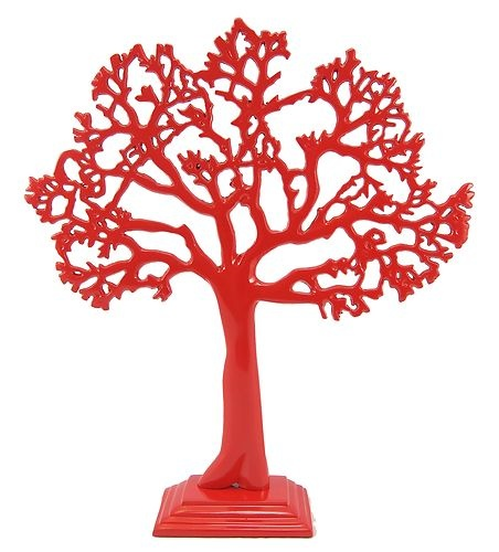 New Medium Fire Red Tree of life, jewellery stand, art, decoration, great gift