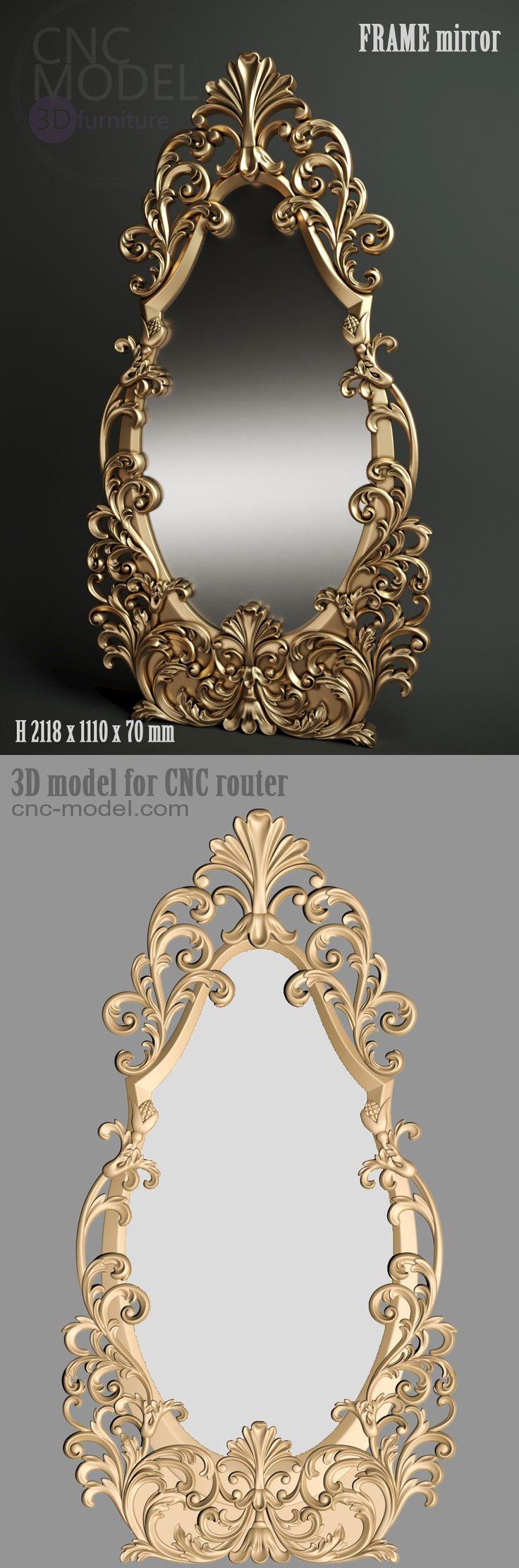 A186  FRAME mirror cnc-model.com 3D model for cnc router 3D furniture – 3D TECHNOLOGY