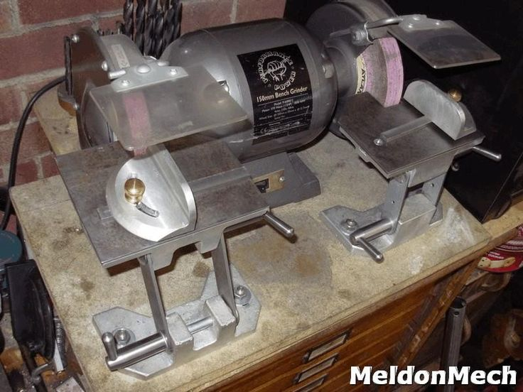Ordinary Homemade Bench Grinder Part - 4: Bench Grinder Tool Rest By Meldonmech -- Homemade Bench Grinder Tool Rests  Machined From Cast
