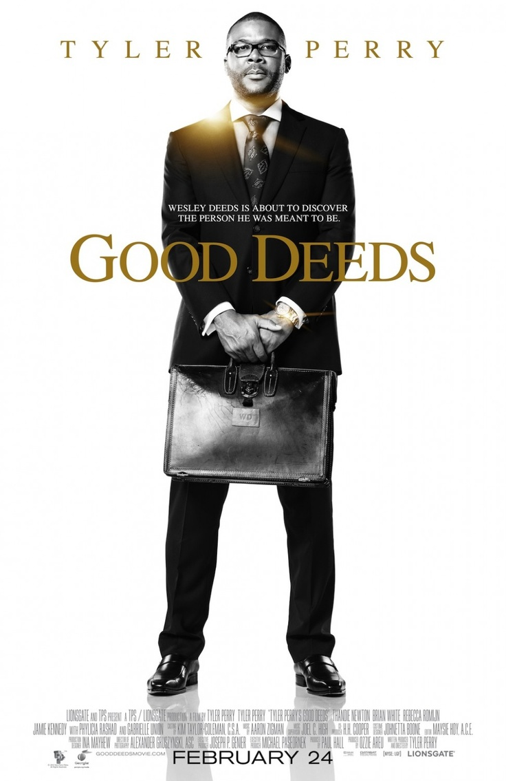 Tyler Perry's Good Deeds -I really enjoyed this film and gave it my top rating on Netflix.Tyler Perry..who was literally homeless years ago..stars as a wealthy CEO. He enjoyed the good life..and was engaged to marry Natalie(Gabrielle Union)..also from a wealthy family. Thandie Newton was having worst than a bad day. She cleaned offices at night..and her life with her young daughter was falling apart. She did not know Tyler Perry owned where she worked..yet a series of events..drew them…