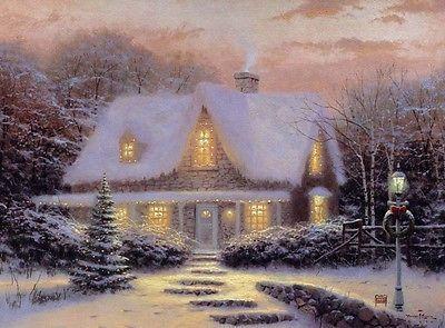 Thomas Kinkade Art Print on Canvas Christmas 18x24 | eBay