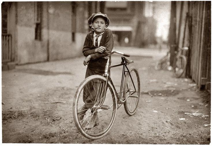 Lewis Hine:  Trike, Bicycles, Tricycle, Bike, Waco Texas, Vintage Photos,  Velociped, Lewis Hines, Messenger Boys