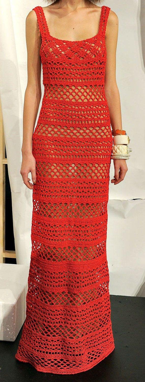 Crochet women long summer dress by AsDidy on Etsy, $385.00
