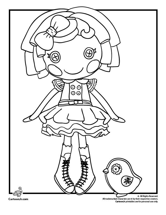 lalaloopsy doll coloring page - Baby Doll Coloring Pages Printable