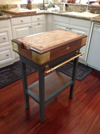 Williams Sonoma French Chef Kitchen Island Would Be Fun To Diy With An Old Wooden Crate A Freebie Table And Butcher New Projects I Want Make In