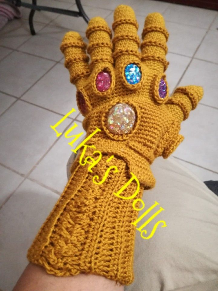 Crochet Thanos Jointed Doll by turtlebunnycreations on DeviantArt | 960x720