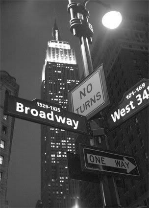 NYC / street signs & Empire State Building