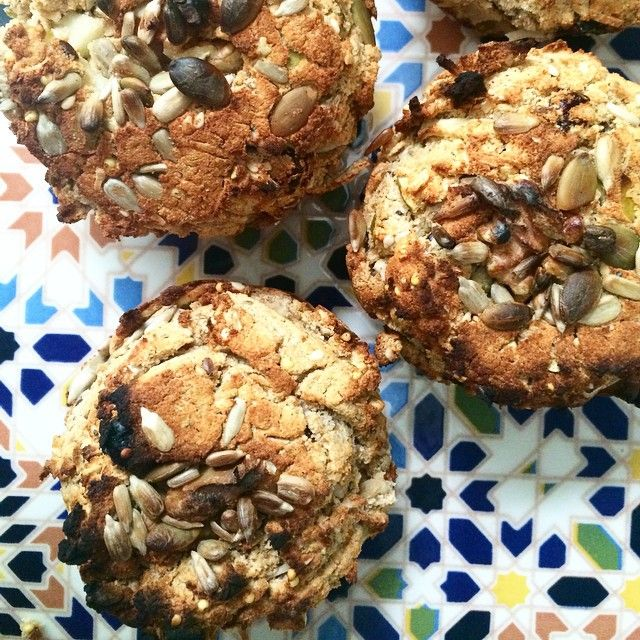 Got my #bake on this afternoon- coconut apple gf muffins loads of seeds and goodness. #yum Placed beautifully on one of our Zellige tiles!  www.tilesofezra.com www.gabbe.com.au