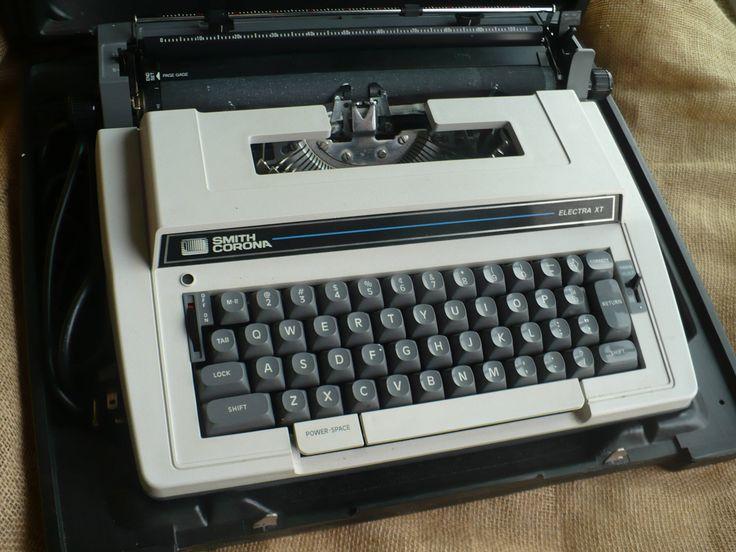 Vintage Smith Corona Typewriter, Electric Typewriter, Smith Corona Electra XT by TheEarlyBirdFinds on Etsy