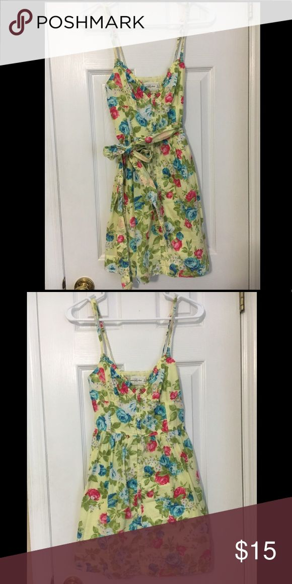 A&F sundress Worn several times, but like-new condition. Comes with a sash. Will model if requested! Abercrombie & Fitch Dresses Mini