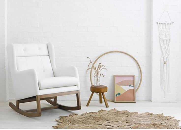 Nursing chair - breastfeeding chair - rocking chair - nursery furniture - Scandi style nursing chair - go to your room! Olli Ella