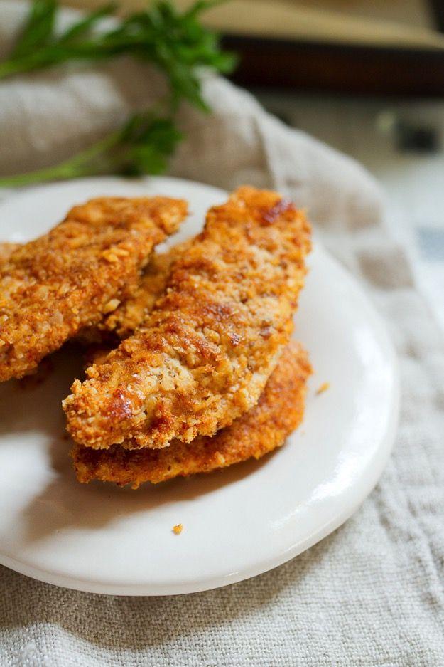 Baked Paleo Chicken Tenders inspired by Hu Kitchen #glutenfree #paleo