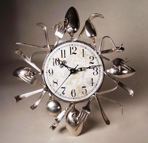 Uniquebella Metal Kitchen Cutlery Utensil Wall Clock Spoon: 25+ Best Ideas About Cutlery Art On Pinterest