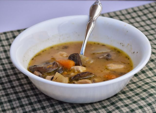 Chicken, Squash and Mushroom Stew. A filling and flavorful paleo dish for cold winter days!