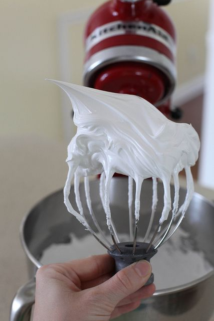 Homemade marshmallow creme, in case you need some in a pinch and don't want to go to the store.