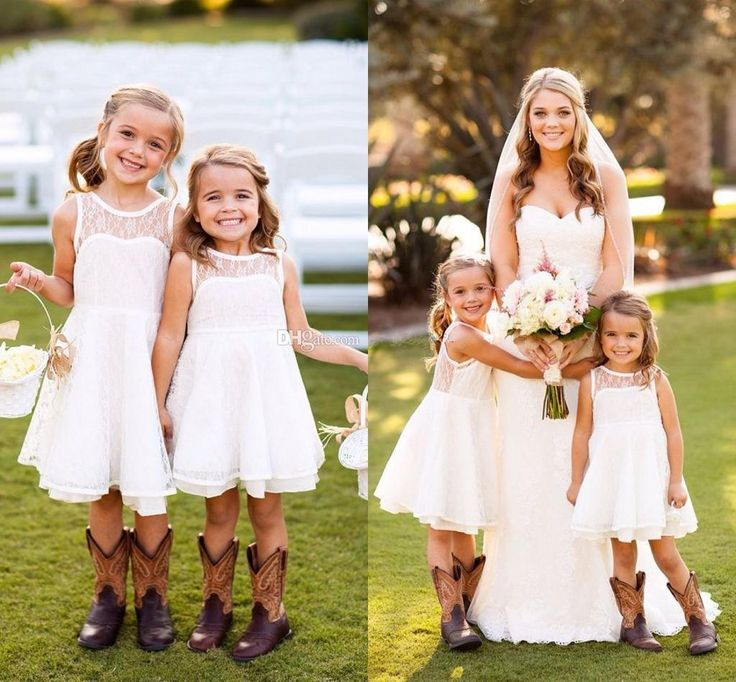 The dresses for flower girls which match the flowers- Cute Lace Flower Girls Dress 2015 New Arrival Sleeveless Knee Length White Pageant Dress For Girls See Through Back Junior Bridemaid Dress is offered in ebelz005 and on DHgate.com toddler flower girl dresses along with flower girl dresses for sale are on sale, too.