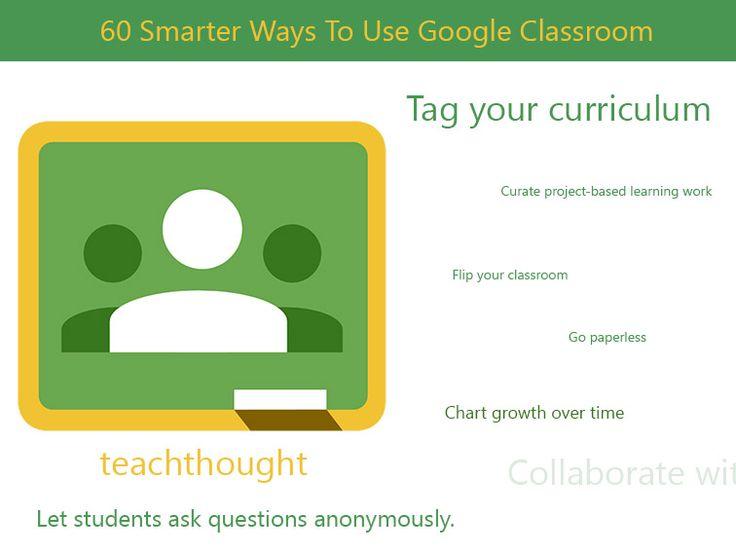 60 Smarter Ways To Use Google Classroom via @TeachThought @kjnitram @dmhicks @mckeatingchs